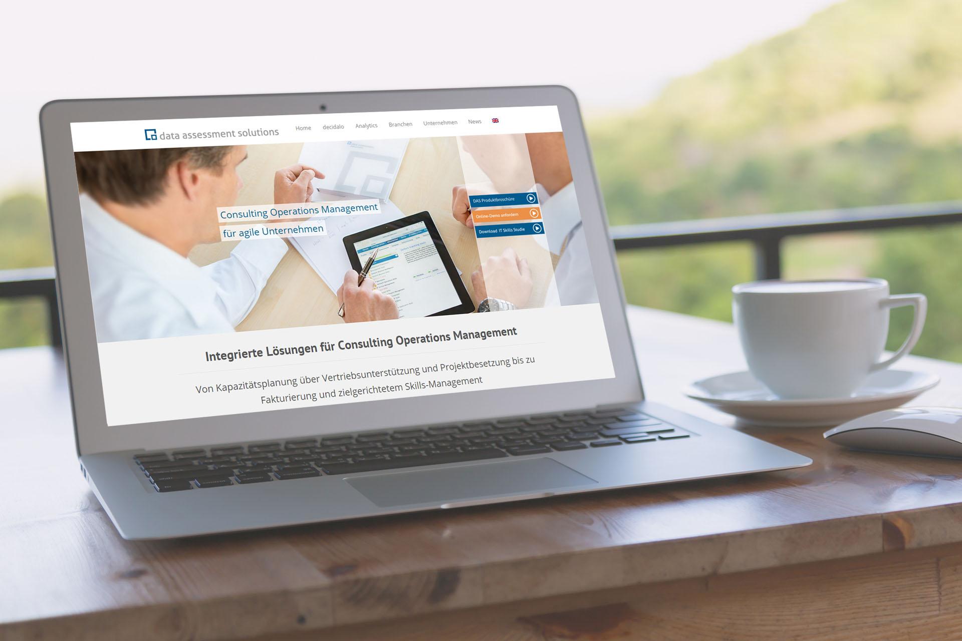 Internetauftritt für IT-Unternehmen