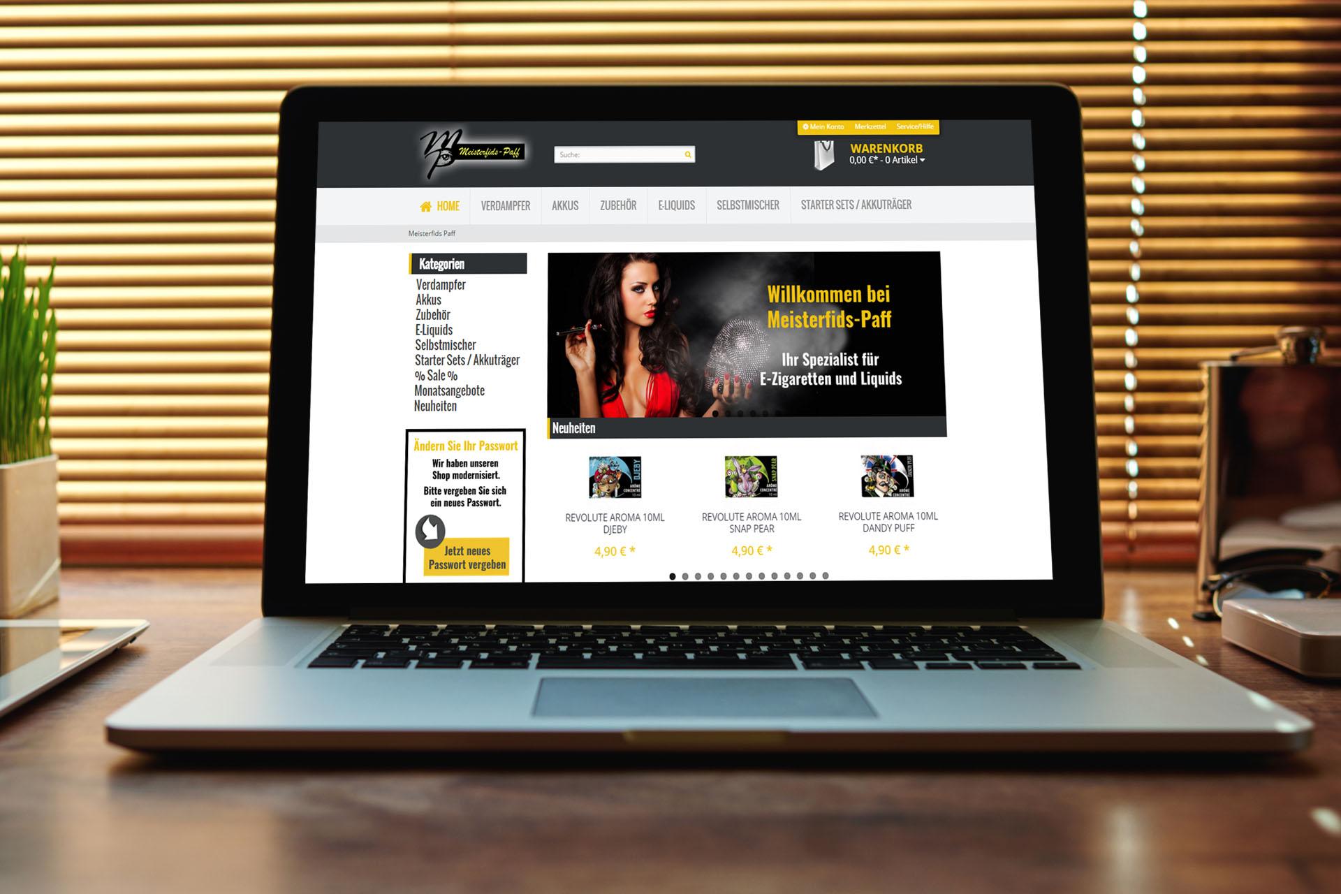 Online-Shop für E-Zigaretten
