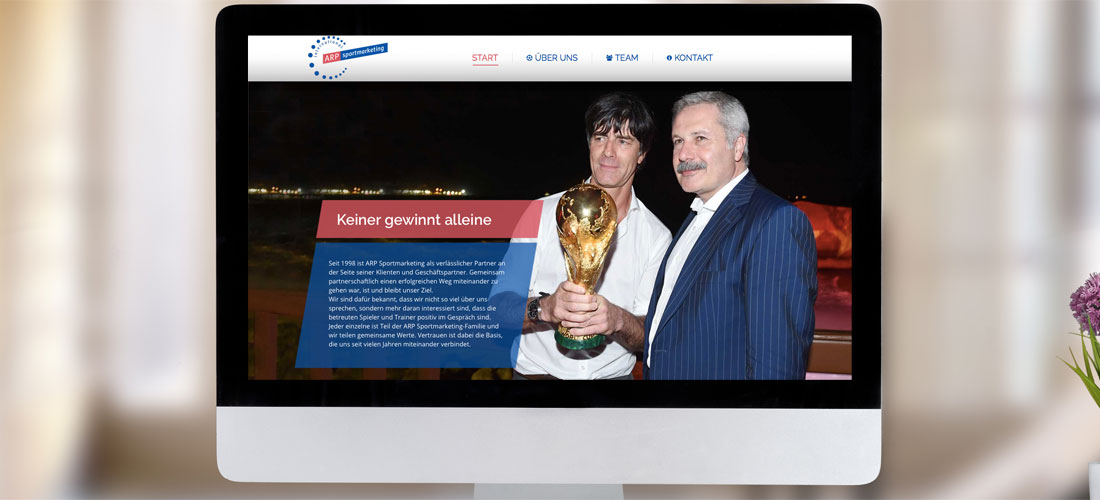Internetauftritt für Sportmarketing-Agentur