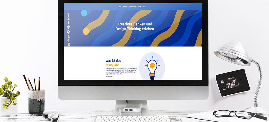 Internetauftritt Projekt thinqlab