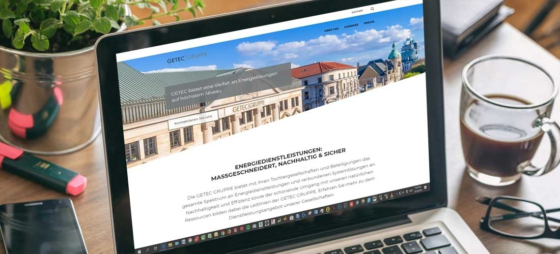 Internetauftritt der GETEC Gruppe