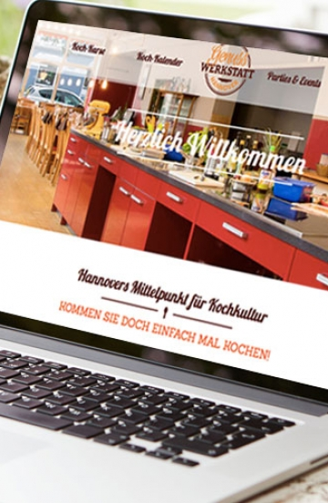 Internetauftritt für Kochschule