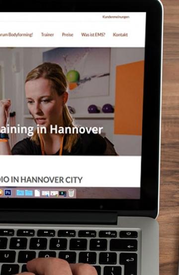 Online Auftritt für EMS Studio in Hannover