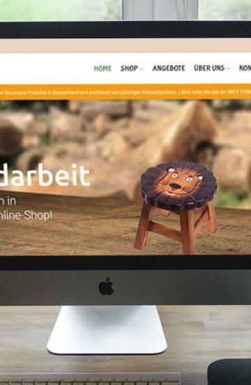 Shop für Kinderholzmöbel aus Thailand
