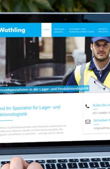 Internetauftritt für Logistikunternehmen