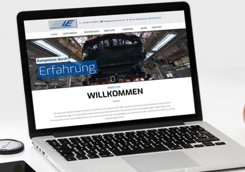 Online Auftritt für Industrie Dienstleister