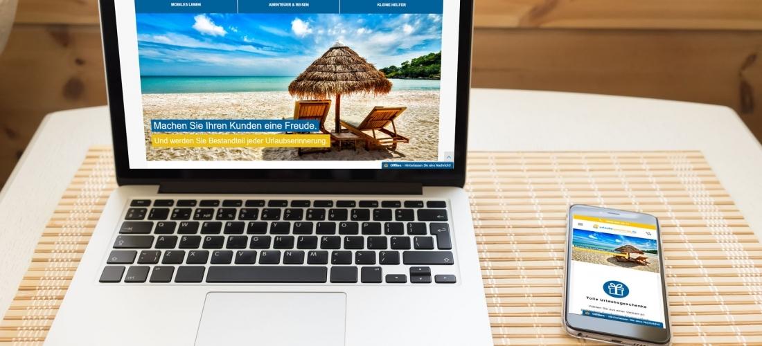 Online-Shop für Reisebüros