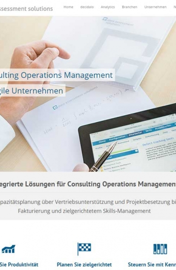 Internetauftritt für Consulting Operations Management