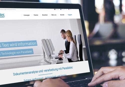 Internetauftritt für ein IT-Unternehmen